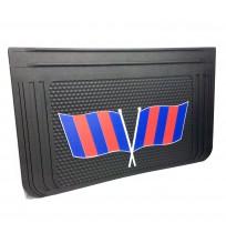 40x65 cm Kırmızı Mavi Bayrak Desenli Kabartma Paçalık