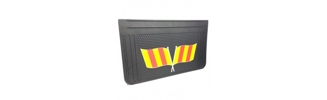 40x65 cm Sarı Kırmızı Bayrak Desenli Kabartma Paçalık