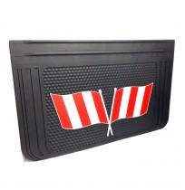 40x65 cm Beyaz Kırmızı Bayrak Desenli Kabartma Paçalık