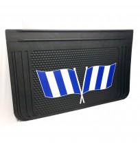 40x65 cm Beyaz Mavi Bayrak Desenli Kabartma Paçalık