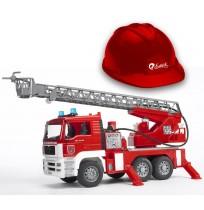 MAN Merdivenli İtfaiye Aracı & Kırmızı Baret