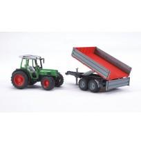 Fendt 209 S Traktör & Kırmızı Römork