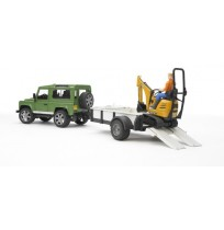 Land Rover Arazi Aracı & JCB Mini Kazıcı