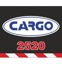 50X60 cm Cargo Baskılı Reflektörlü Paçalık(Kırmızı-Beyaz)