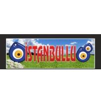 Şehir Baskılı Nazar Boncuklu Paçalık Tozluk Tampon Boy 35X100 cm