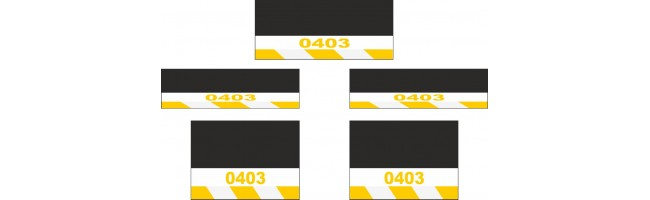 Mercedes-Benz 5li Otobüs Reflektörlü Paçalık Modelleri (Sarı-Beyaz)