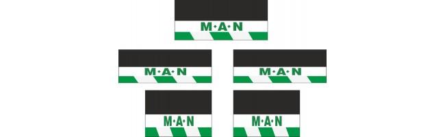 Man 5li Otobüs Grubu Reflektörlü Paçalık Modelleri (Yeşil-Beyaz)