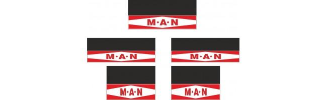 Man 5li Otobüs Grubu Reflektörlü Paçalık Modelleri (Kırmızı-Beyaz)