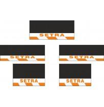 Setra 5li Otobüs Grubu Reflektörlü Paçalık Modelleri (Turuncu-Beyaz)