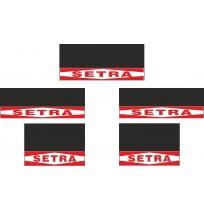 Setra 5li Otobüs Grubu Reflektörlü Paçalık Modelleri (Kırmızı-Beyaz)