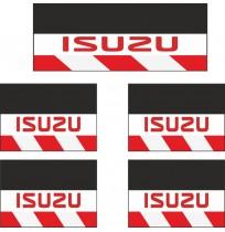 Isuzu 5li Midibüs Grubu Reflektörlü Paçalık Modelleri (Kırmızı-Beyaz)