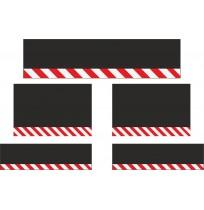 10 cm Çavuş Reflektif Paçalık Modelleri (Kırmızı-Beyaz)
