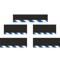 10 cm Çavuş Reflektif Paçalık Modelleri (Mavi-Beyaz)
