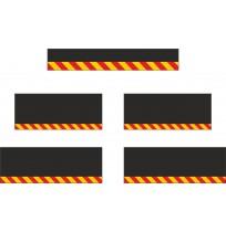 10 cm Çavuş Reflektif Paçalık Modelleri (Kırmızı-Sarı)