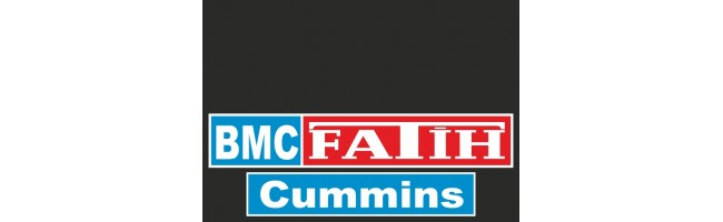 35X50 cm BMC Fatih Cummins Baskılı Kamyon Paçalığı