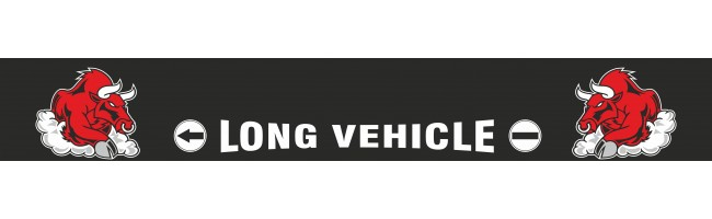 35X240 cm Boğalı Long Vehicle Baskılı Kamyon Paçalığı