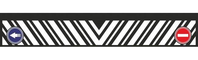 35X210 cm Çizgi Baskılı Kamyon Paçalığı