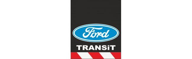 30X35 cm Ford Baskılı Reflektörlü Paçalık(Kırmızı-Beyaz)