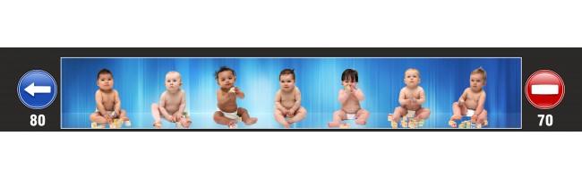 35X240 cm Bebekler Baskılı Kamyon Paçalığı