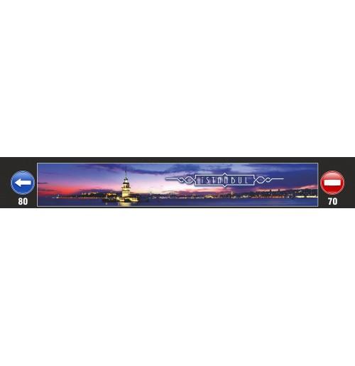 35X240 cm Kız Kulesi Baskılı Kamyon Paçalığı