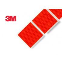 3M Yumuşak Zemin Kırmızı Reflektif Şerit İşaretleme ( Kesikli ) 997S Diamond Grade