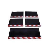 Aluminyum Profilli Minibüs Tipi 5 li Set Paçalık Kırmızı Beyaz