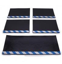 Aluminyum Profilli Minibüs Tipi 5 li Set Paçalık Mavi Beyaz
