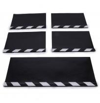 Aluminyum Profilli Minibüs Tipi 5 li Set Paçalık Siyah Beyaz