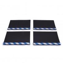 Aluminyum Profilli Minibüs Tipi 4 lü Set Paçalık Mavi Beyaz