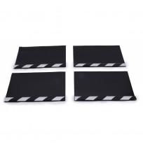 Aluminyum Profilli Minibüs Tipi 4 lü Set Paçalık Siyah Beyaz