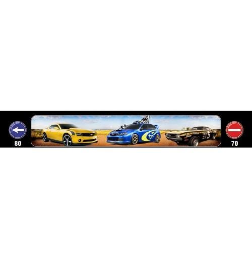 Yarış Arabası Baskılı Kamyon / TIR / Dorse Paçalık - 240 cm