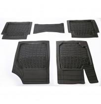 3D Havuzlu Paspas Tüm Araçlar İçin Uyumlu 5 Parça - Siyah