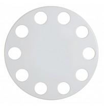 22.5 inç Çember Şerit Model Beyaz Boyalı Metal Jant Kapağı