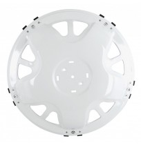 Ahtapot Model Beyaz Boyalı Metal Ön Jant Kapağı 17.5 inç