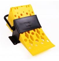 Kamyon TIR Dorse Kulplu Askılı Teker Takozu - Plastik Sarı