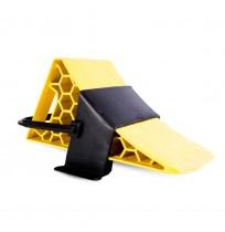 Kamyon TIR Dorse Kulplu Askılı Teker Takozu - Petekli Sarı
