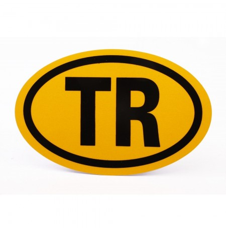 Azami Hız TR Reflektif Sarı Elips Yapıştırma Hız Uyarı Etiketi