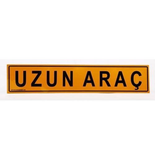 UZUN ARAÇ Reflektifli Sarı Yapıştırma Uyarı Etiketi