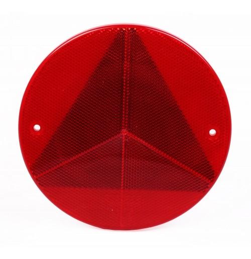 Dairesel Çerçeveli Üçgen Reflektör E9 Belgeli 15,6 cm Kırmızı