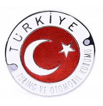 Büyük Boy Döküm Türkiye Turing ve Otomobil Kurumu Krom Arma