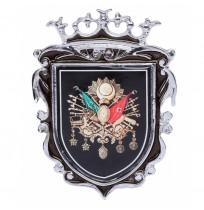 Büyük Boy Döküm Osmanlı Krom Arma - Siyah