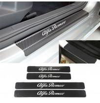 Alfa Romeo Karbon Kapı Eşiği Koruma Sticker Yapıştırma (4 Adet)