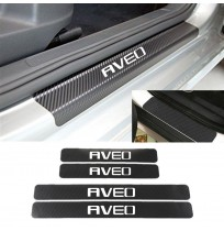 Chevrolet Aveo Karbon Kapı Eşiği Koruma Sticker (4 Adet)