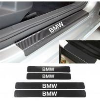 BMW Karbon Kapı Eşiği Koruma Sticker Yapıştırma (4 Adet)