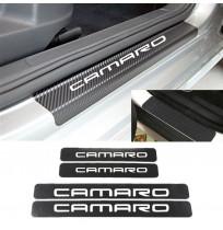 Chevrolet Camaro Karbon Kapı Eşiği Koruma Sticker (4 Adet)