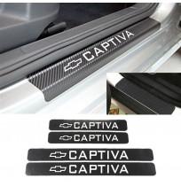 Chevrolet Captiva Karbon Kapı Eşiği Koruma Sticker (4 Adet)