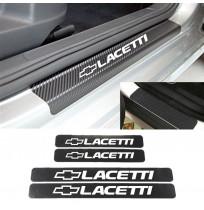 Chevrolet Lacetti Karbon Kapı Eşiği Koruma Sticker (4 Adet)