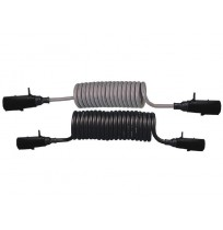 7 Pinli Standart Tip,Plastik P.E. Spiral Elektrik Kablosu 24/24V