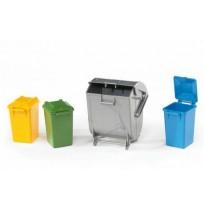 Çöp konteyniri Seti (1 Büyük, 3 Küçük)