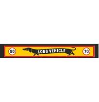 35X240 cm Köpekli Long Vehicle Baskılı Kamyon Paçalığı